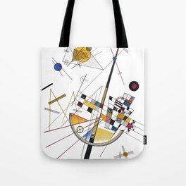 Kandinsky Delicate Tension No. 85, 1923 Artwork Reproduction, Design for Posters, Prints, Tshirts, Men, Women, Kids, Youth Tote Bag