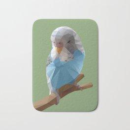Budgerigar Bird Polygon Art Bath Mat