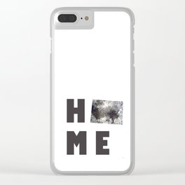"""Wyoming """"HOME"""" Clear iPhone Case"""