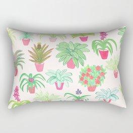 Tropical Houseplants Rectangular Pillow