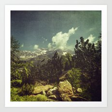Italian Mountains Art Print