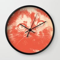 kitten Wall Clocks featuring KITTEN by Allyson Johnson