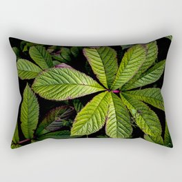 The Palmately Compound Leaf Rectangular Pillow