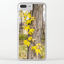 Maple Leaf Forever Clear iPhone Case