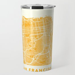 San Francisco City Map 03 Travel Mug