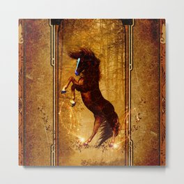 Awesome wild horse Metal Print