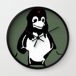Linux tux Penguin Che guevara  Wall Clock