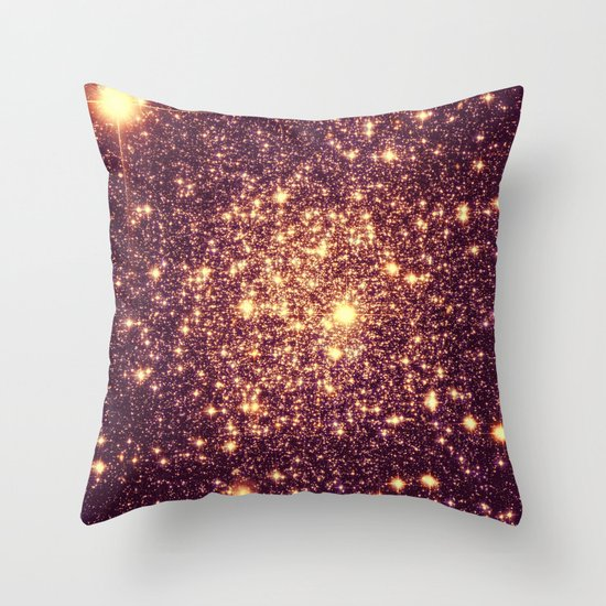 Rose Gold Throw Pillow by Galaxy Dreams Society6