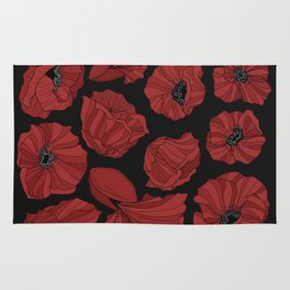 Red Poppies Rug