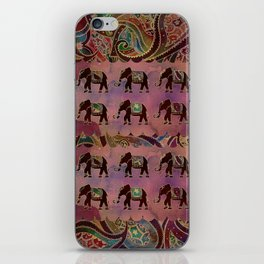 Floral elephants iPhone Skin