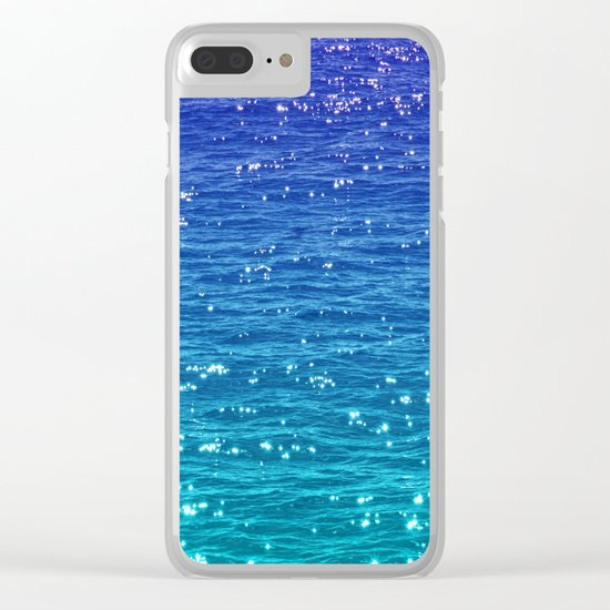 SEA SPARKLE Clear iPhone Case