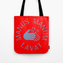 Manus Manum Lavat Blue II - Wash your Hands Tote Bag