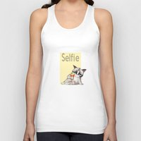 french fries Tank Tops featuring Selfie with French Fries by stylishbunny