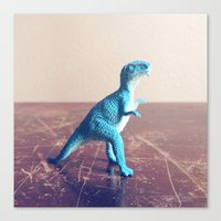 dinosaur Canvas Prints featuring Dinosaur  by They Come Along