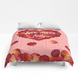 Love Never Fails Comforters