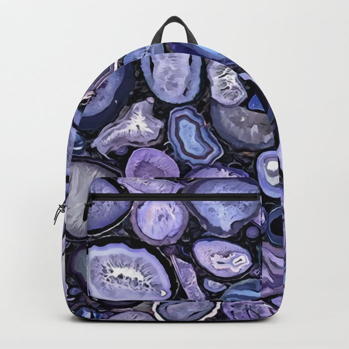 Agate crystals Backpack