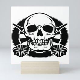 Darts Dart Skull Arrow WM 180 Gift Mini Art Print