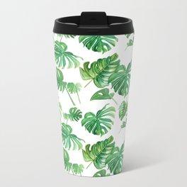 Topical Leaves Metal Travel Mug