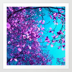 purple tree XXIII Art Print