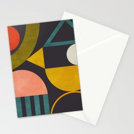 mid century bauhaus geometry abstract 2020 Stationery Cards