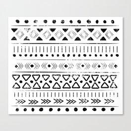 Boho Tribal Pattern Canvas Print