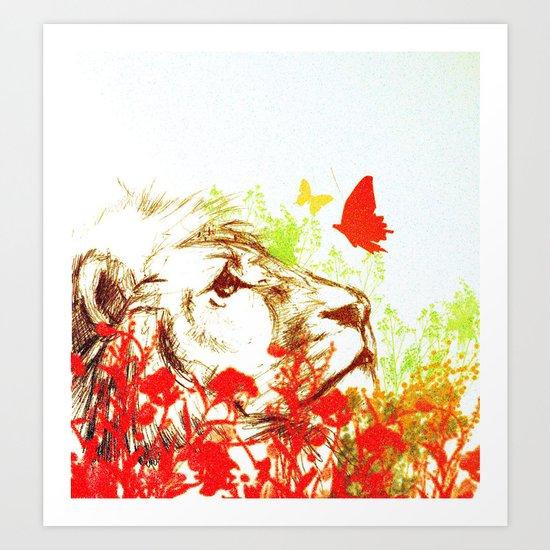 Beast and the Butterflies II Art Print