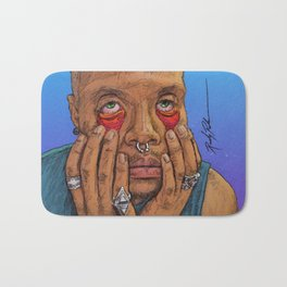 I Draw Faces | No.1-7 Bath Mat