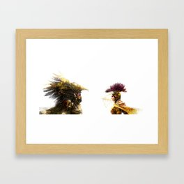 GOLDEN WORLD LOVE VS EVIL Framed Art Print