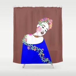 Flowered woman Shower Curtain