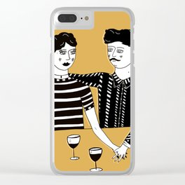 Summer, love, red wine. Clear iPhone Case