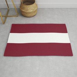 Latvia flag emblem Rug