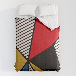 Primary Colors and Stripes Comforters