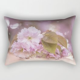Cherry Blossom LOVE - Sakura - Pink Flower Flowers Rectangular Pillow
