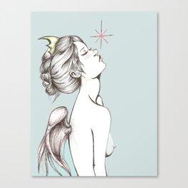 """Colored """"Memento Vivere, Memento Mori"""" Canvas Print"""