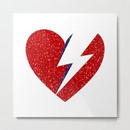 Bowie Heart Metal Print