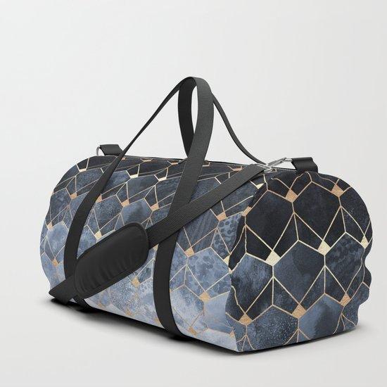 Blue Hexagons And Diamonds by elisabethfredriksson