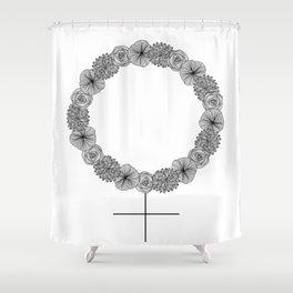Flower feminism Shower Curtain