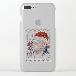 Ugly Christmas OH HI SANTA Clear iPhone Case