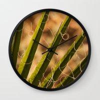 terry fan Wall Clocks featuring Fan by Maite Pons