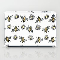 bees iPad Cases featuring Bees by rapunzette
