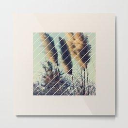Reeds in the wind Metal Print