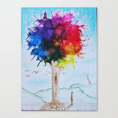 Tree Of Colour Canvas Print