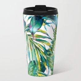 nature leaves exotic watercolor I Travel Mug