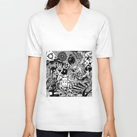 chaos V-neck T-shirts featuring Chaos by Cs025