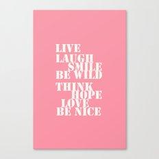 Positive attitude pink Canvas Print