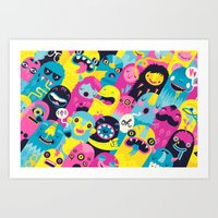 monsters Art Prints featuring Monsters by Lienke Raben