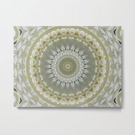 Native Feather Motif Mandala Metal Print