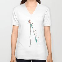 compass V-neck T-shirts featuring compass by K_REY_C