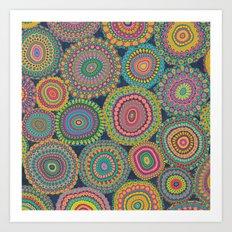 Boho Patchwork-Eden colors Art Print