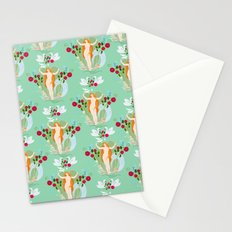 Venus rising pattern in blue Stationery Cards